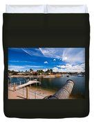 Cannon Over Water Duvet Cover