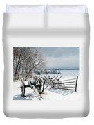 Cannon Under Snow Duvet Cover