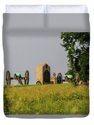 Cannons Behind Hancock Avenue Duvet Cover