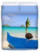 Canoe And Coconut Duvet Cover