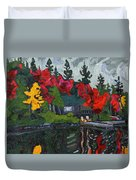 Canoe Lake Chairs Duvet Cover by Phil Chadwick