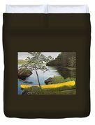 Canoe On The Bay Duvet Cover