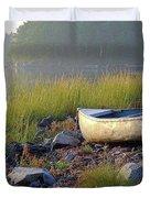 Canoe On The Rocks Duvet Cover