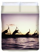 Canoe Race Duvet Cover