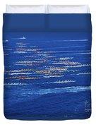 Canoe Race Duvet Cover