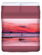 Canoeing On Color Duvet Cover