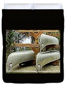 Canoes At Canaveral National Seashore Duvet Cover