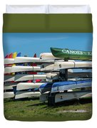 Canoes Cascaded Duvet Cover