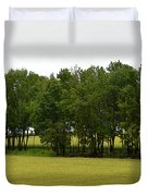 Canola Around The Trees  Duvet Cover