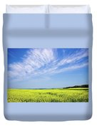 Canola Blue Duvet Cover