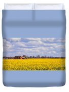 Canola Field Duvet Cover