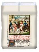 Canterbury Pilgrims Duvet Cover