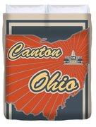 Canton Ohio Duvet Cover