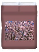 Canvas Of Pink Blossoms Duvet Cover