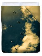 Canvas Seagulls Duvet Cover