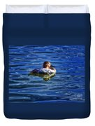 Canvasback And Blue Duvet Cover