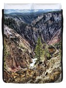 Canyon And Lower Falls Duvet Cover