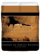 Canyon De Chelly Arizona Black Border Duvet Cover