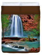 Canyon Falls Duvet Cover by Scott Mahon