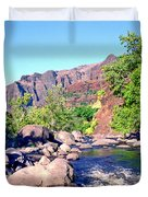 Canyon River  Duvet Cover by Kevin Smith