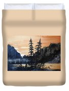 Canyon Trees, Watercolor Duvet Cover