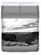 Canyonlands National Park Utah Pan 06 Bw Duvet Cover
