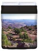 Canyonlands Park Utah Blue To Green Vista Duvet Cover