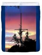 Cape Ann Sunset Silhouettes Duvet Cover