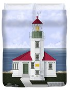 Cape Arago Oregon Duvet Cover