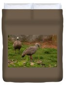 Cape Barren Geese Facing Right Duvet Cover
