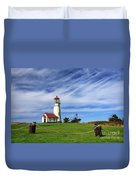 Cape Blanco Lighthouse Above The Rope Duvet Cover