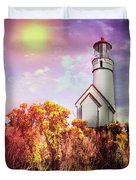 Cape Blanco Lighthouse In Oregon Duvet Cover