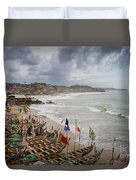 Cape Coast Fishing Village Duvet Cover