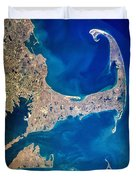 Cape Cod And Islands Spring 1997 View From Satellite Duvet Cover