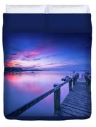 Cape Cod Art Sunrise On Pleasant Bay In July Duvet Cover