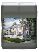 Cape Cod House Painting Duvet Cover