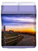 Cape Cod Light Duvet Cover by Mark Papke