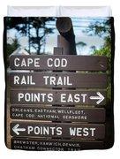 Cape Cod Rail Trail Sign Eastham Duvet Cover