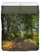 Cape Cod Rail Trail Trees Eastham Ma Duvet Cover