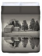 Cape Cod Reflections Black And White Photography Duvet Cover