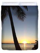 Cape Coral Winter Sunset  Duvet Cover