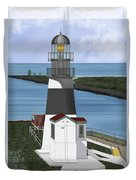 Cape Disappointment At Fort Canby Washington Duvet Cover