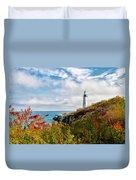 Cape Elizabeth Maine - Portland Head Lighthouse Duvet Cover