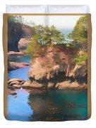 Cape Flattery Reflection Duvet Cover