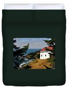 Cape Foulweather Point Duvet Cover