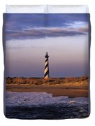 Cape Hatteras Lighthouse At Sunrise - Fs000606 Duvet Cover