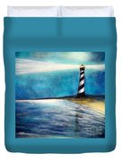 Cape Hatteras Lighthouse Night Glow Duvet Cover