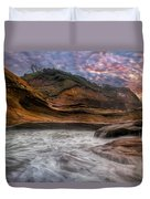 Cape Kiwanda Sunset Duvet Cover