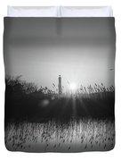 Cape May Light Bw Duvet Cover