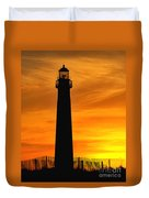 Cape May Light Sunset Duvet Cover